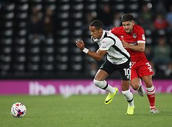 Thomas Ince of Derby County (L) and Danny Andrew of Grimsby Town in action - Mandatory by-line: Jack Phillips/JMP - 09/08/2016 - FOOTBALL - iPro Stadium - Derby, England - Derby County v Grimsby Town - EFL Cup First Round