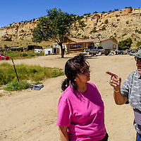 Chapter president Raphael Martin talks with Pinedale resident Lorraine Martin at her home Tuesday.