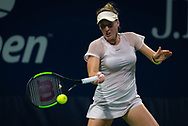 Madison Brengle of the United States in action during the first qualifications round at the 2018 US Open Grand Slam tennis tournament, New York, USA, August 22th 2018, Photo Rob Prange / SpainProSportsImages / DPPI / ProSportsImages / DPPI