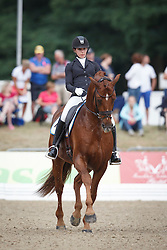 Darcourt Caroline, (SWE), Sankt Erik II<br /> First Qualifier 6 years old horses<br /> World Championship Young Dressage Horses - Verden 2015<br /> © Hippo Foto - Dirk Caremans<br /> 07/08/15