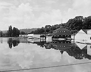 Y-480528-01.  Oaks Park during flood. May 28, 1948