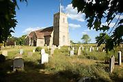 All Saints church and graveyard, Sudbourne, Suffolk, England