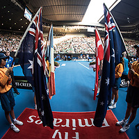 A general view ahead of the women's singles championship match during the 2018 Australian Open on day 13 in Melbourne, Australia on Saturday night January 27, 2018.<br /> (Ben Solomon/Tennis Australia)