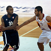 Anadolu Efes's Oliver Lafayette (L) during their Euroleague Top 16 basketball match Galatasaray MP between Anadolu Efes at the Abdi Ipekci Arena in Istanbul at Turkey on Wednesday, February, 22, 2012. Photo by TURKPIX
