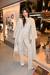 LONDON, ENGLAND 8 DECEMBER 2016: Doina Ciobanu at a party to celebrate the collaboration of Taylor Morris Eyewear and The Morgan Motor Company held at Harvey Nichols, Knightsbridge, London, England. 8 December 2016.