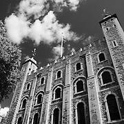 Tower Of London - London - Infrared Black & White