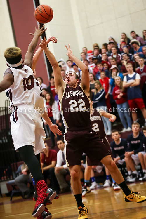 (1/12/15, WESTBOROUGH, MA) Algonquin's Joe Wallace shoots for two points during the boys basketball game against Westborough at Westborough High School on Monday. Daily News and Wicked Local Photo/Dan Holmes