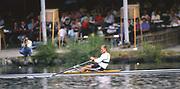 Lucerne, SWITZERLAND. [RDA] DDR M1X, Thomas LANGE.1988 Lucerne International Regatta, Lake Rotsee. June 1988 [Mandatory Credit - Peter Spurrier/Intersport Images]