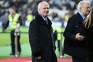 David Gold, the co-owner of West Ham United looks on before k/o. Premier league match, West Ham Utd v Manchester city at the London Stadium, Queen Elizabeth Olympic Park in London on Wednesday 1st February 2017.<br /> pic by John Patrick Fletcher, Andrew Orchard sports photography.