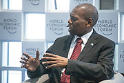 Zwelini Lawrence Mkhize, Minister of Health of South Africa speaking during the session Investing in Mental Health at the World Forum World Economic Forum on Africa 2019. Copyright by World Economic Forum / Greg Beadle