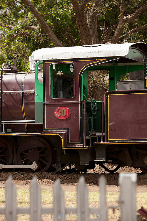 A locomotive at the railway museum in Nairobi, Kenya. The railway is rich with history, and integral in the developement of the country after being colonised by the British in the 19th century
