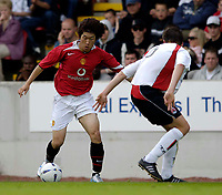 Fotball<br /> England 2005/2006<br /> Foto: SBI/Digitalsport<br /> NORWAY ONLY<br /> <br /> Clyde v Manchester United<br /> Preseason Friendly. 16/07/2005<br /> <br /> Manchester United's Park Ji Sung in action