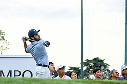 October 13, 2018 - Kuala Lumpur, Malaysia - Abraham Ancer of Mexico plays his shot on the 1st green during round three of the CIMB Classic at TPC Kuala Lumpur on 13 October, 2018 in Kuala Lumpur, Malaysia  (Credit Image: © Chris Jung/NurPhoto via ZUMA Press)