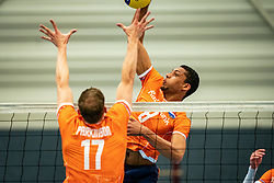 Fabian Plak #8 of Netherlands in action during the Olaf Ratterman Memorial match between Netherlands vs. Eredivisie All Star team on May 03, 2021 in Barneveld.
