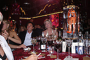 Bryan Ferry and Hillary Weston. Selfridges Las Vegas dinner hosted by  hon Galen , Hillary Weston and Allanah Weston. Selfridges Oxford St. 20 April 2005. ONE TIME USE ONLY - DO NOT ARCHIVE  © Copyright Photograph by Dafydd Jones 66 Stockwell Park Rd. London SW9 0DA Tel 020 7733 0108 www.dafjones.com