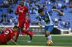 January 20, 2018 - Barcelona, Spain - Gerard Moreno during the La Liga match between RCD Espanyol and Sevilla FC played in the RCDEstadium, in Barcelona, on January 20, 2018. Photo: Joan Valls/Urbanandsport/Nurphoto  (Credit Image: © Joan Valls/NurPhoto via ZUMA Press)