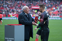 December 16, 2018 - Seville, Andalucia, Spain - Vaclik of Sevilla FC receives the best player of the month award during the LaLiga match between Sevilla FC and Girona at Estadio Ramón Sánchez Pizjuán on December 16, 2018 in Seville, Spain  (Credit Image: © Javier MontañO/Pacific Press via ZUMA Wire)