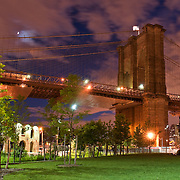 The Brooklyn Bridge and Brooklyn Bridge Park at Twilight