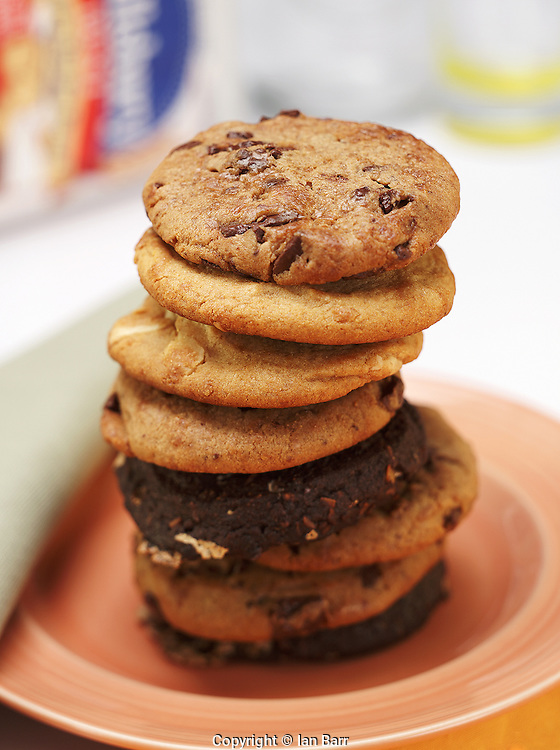 cookie stack on plate