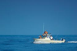 Family fishing boat, off Kona, Big Island, Hawaii, Pacific Ocean