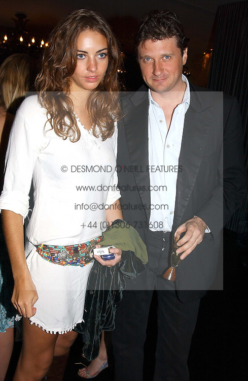 ROSE HANBURY and LORD JOHNSTON SOMERSET at Tatler Magazine's Summer Party held at the Baglioni Hotel, 60 Hyde Park Gate, London SW7 on 1st July 2004.