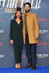 Sonequa Martin-Green and Shazad Latif attending a Star Trek: Discovery fan screening at Millbank Tower in London.