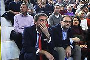 DESCRIZIONE : Cremona Lega A 2014-2015 Vanoli Cremona Openjobmetis Varese<br /> GIOCATORE :  Gianmarco Pozzecco Coach<br /> SQUADRA : Openjobmetis Varese<br /> EVENTO : Campionato Lega A 2014-2015<br /> GARA : Vanoli Cremona Openjobmetis Varese<br /> DATA : 30/11/2014<br /> CATEGORIA : Coach <br /> SPORT : Pallacanestro<br /> AUTORE : Agenzia Ciamillo-Castoria/F.Zovadelli<br /> GALLERIA : Lega Basket A 2014-2015<br /> FOTONOTIZIA : Cremona Campionato Italiano Lega A 2014-15 Vanoli Cremona Openjobmetis Varese<br /> PREDEFINITA : <br /> F Zovadelli/Ciamillo