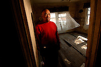 """""""If it's possible, I'm going to build back. I'm going to be here forever."""" Resident of the 9th Ward in New Orleans, Ather Fountin's, 75,  home was destroyed by floodwaters following Hurricane Katrina two months prior."""