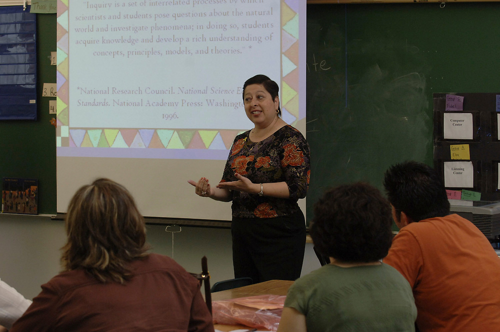 Austin,TX April 2, 2006: ColorinColorado', a continuing education program for elementary bilingual teachers and English Language Learners (ELL) sponsored in part by the American Federation of Teachers.  The weekend seminar is part of President Bush's No Child Left Behind initiative.