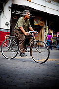 Cycling on the Street in Puebla