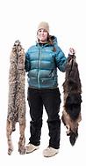 Studio portrait series, promoting Wild Yukon Fur.