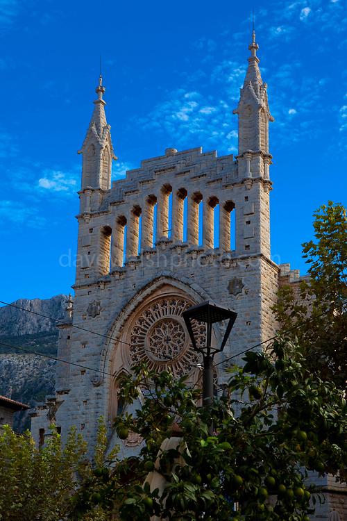 Església de Sant Bartomeu. Church in Soller, Mallorca