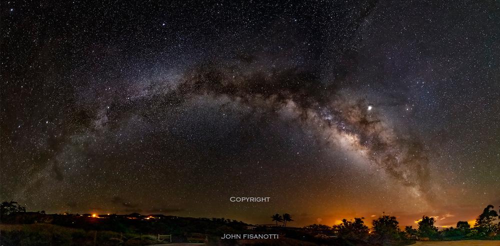 Panorama of the Milky Way over Hawaii