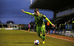 Nicky Cadden of Forest Green Rovers crosses the ball- Mandatory by-line: Nizaam Jones/JMP - 16/01/2021 - FOOTBALL - innocent New Lawn Stadium - Nailsworth, England - Forest Green Rovers v Port Vale - Sky Bet League Two