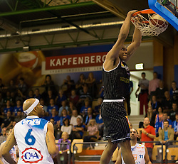 17.05.2015, Walfersamhalle, Kapfenberg, AUT, ABL, ece Bulls Kapfenberg vs magnofit Guessing Knights, 3. Semifinale, im Bild kShawn Ray (Kapfenberg) Travis Taylor (Guessing) Ian Boylan (Kapfenberg) // during the Austrian Basketball League, 3th semifinal, between ece Bulls Kapfenberg and magnofit Guessing Knights at the Sportscenter Walfersam, Kapfenberg, Austria o00000n 2015/05/17, EXPA Pictures © 2015, PhotoCredit: EXPA/ Dominik Angerer