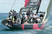 Alinghi. Round robin one match with Oracle. 11/10/2002 (© Chris Cameron 2002)