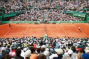 Roland Garros. Paris, France. June 4th 2006..Gael Monfils (left) against James Blake (right).