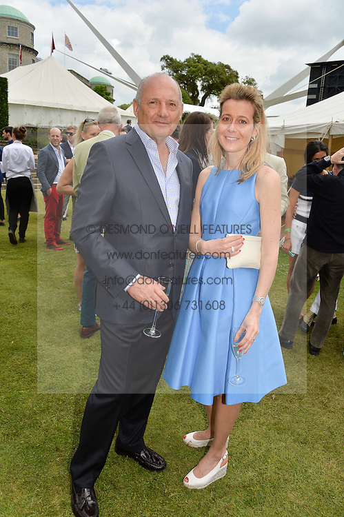 RON DENNIS and CARINE FENIOU at the Cartier hosted Style et Lux at The Goodwood Festival of Speed at Goodwood House, West Sussex on 26th June 2016.