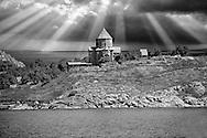 10th century Armenian Orthodox Cathedral of the Holy Cross on Akdamar Island, Lake Van Turkey 91 .<br /> <br /> If you prefer to buy from our ALAMY PHOTO LIBRARY  Collection visit : https://www.alamy.com/portfolio/paul-williams-funkystock/lakevanturkey.html<br /> <br /> Visit our TURKEY PHOTO COLLECTIONS for more photos to download or buy as wall art prints https://funkystock.photoshelter.com/gallery-collection/3f-Pictures-of-Turkey-Turkey-Photos-Images-Fotos/C0000U.hJWkZxAbg