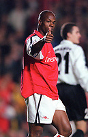 Sylvian Wiltord (Arsenal). Arsenal 3:2 FC Shakhar Donetsk, UEFA Champions League, Group B, 20/9/2000. Credit Colorsport / Stuart MacFarlane..