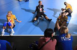 Players of Krim Mercator at handball match of 2nd Round of EHF Women`s Championsleague between RK Krim Mercator (SLO) and Metz Handball (FRA), in Arena Kodeljevo, Ljubljana, Slovenia, on November 9, 2008. Metz  won match against RK Krim Mercator with 31:26.