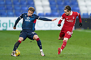 Harry Paton of Ross County and Scott Wright of Aberdeen during the Scottish Premiership match between Ross County FC and Aberdeen FC at the Global Energy Stadium, Dingwall, Scotland on 16 January 2021.