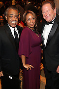 """15 November 2010- New York, NY- l to r: Rev. Al Sharpton, Mara Schiabocampo and Ed Schultz at The National Action Network's 1st Annual Triumph Awards honoring """"Our Best"""" in the Arts, Entertainment, & Sports held at Jazz at Lincoln Center on November 15, 2010 in New York City. Photo Credit: Terrence Jennings"""