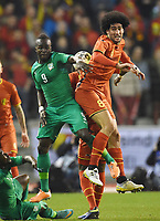Fotball<br /> Belgia v Elfenbenskysten<br /> 05.03.2014<br /> Foto: Witters/Digitalsport<br /> NORWAY ONLY<br /> <br /> v.l. Cheik Tiote, Marouane Fellaini (Belgien)<br /> Fussball, Laenderspiel, Belgien - Elfenbeinkueste