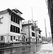 Y-600222.  demoliton of old Eliot School, last used as Knott St. Community Center, February 22, 1960. 2711 NE Rodney, corner of Knott.