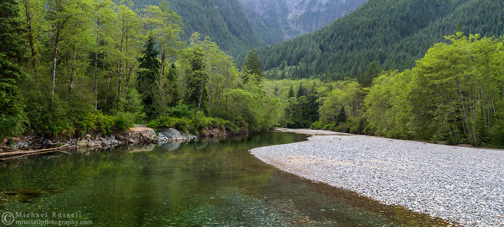 Gold Creek winds through the mountains and forests of Golden Ears Provincial Park in Maple Ridge, British Columbia, Canada.