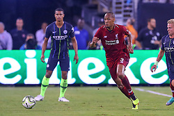 July 25, 2018 - East Rutherford, NJ, U.S. - EAST RUTHERFORD, NJ - JULY 25:  Liverpool forward Fabinho (3) during the first half of the International Champions Cup Soccer game between Liverpool and Manchester City on July 25, 2018 at Met Life Stadium in East Rutherford, NJ.  (Photo by Rich Graessle/Icon Sportswire) (Credit Image: © Rich Graessle/Icon SMI via ZUMA Press)