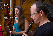 Jeffersonville, New York - Musicians play at the First  Presbyterian Church of Jeffersonville during the Weekend of Chamber Music's Summer Music Festival on July 13, 2014.