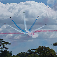 Red Arrows Display at the Goodwood FOS on 28 June 2015