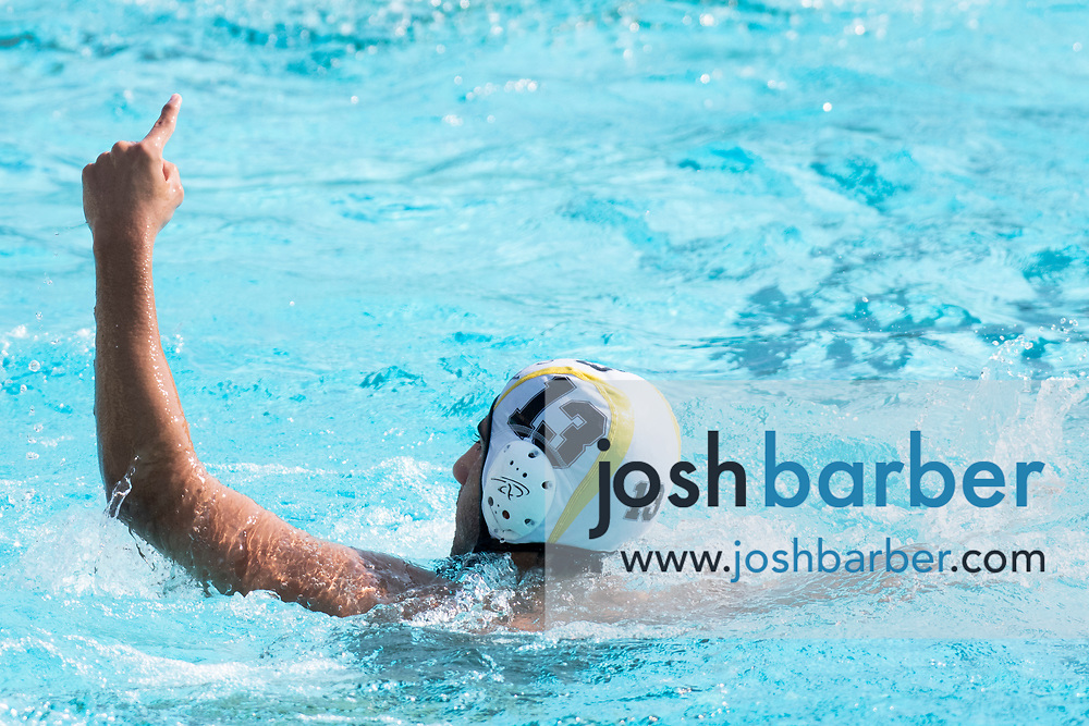 Capistrano Valley's Amir Borujerdpur during the CIF-SS Division 4 boys water polo Final at William Woollett Jr. Aquatic Center on Saturday, November 10, 2018 in Irvine, Calif. (Photo by Josh Barber, Contributing Photographer)